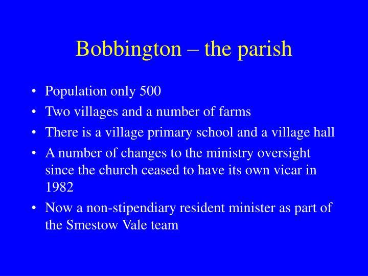 Bobbington – the parish