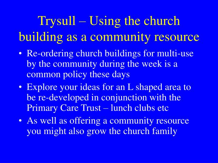 Trysull – Using the church building as a community resource