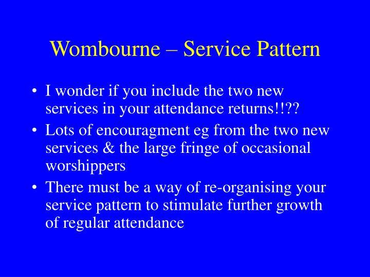 Wombourne – Service Pattern