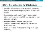 rcv1 our collection for this lecture