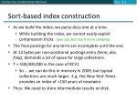 sort based index construction