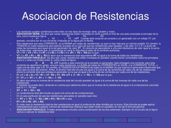 Asociacion de Resistencias