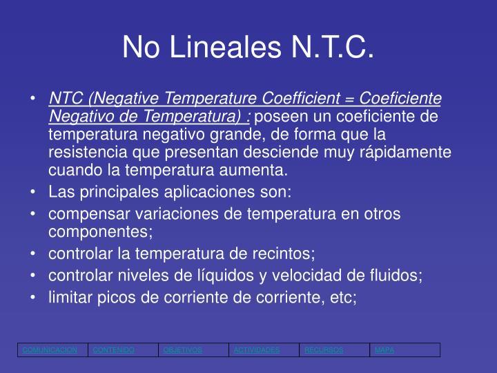 No Lineales N.T.C.
