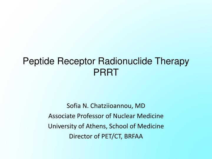 peptide receptor radionuclide therapy prrt n.