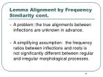 lemma alignment by frequency similarity cont2