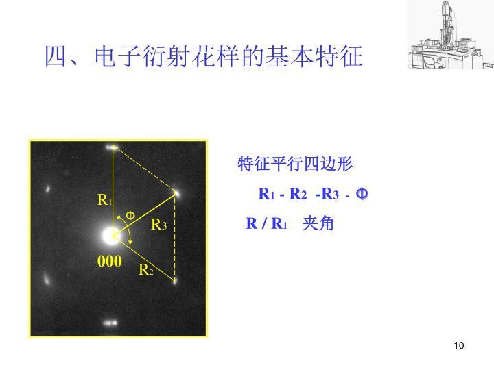 四、电子衍射花样的基本特征