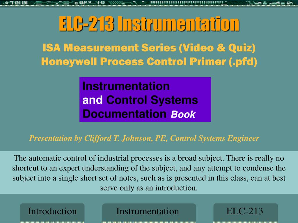 Ppt Elc 213 Instrumentation Powerpoint Presentation Id5590141 Logic Diagram Isa N