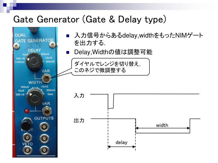 Gate Generator (Gate & Delay type)