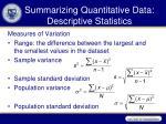 summarizing quantitative data descriptive statistics1
