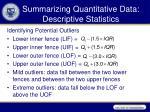 summarizing quantitative data descriptive statistics3