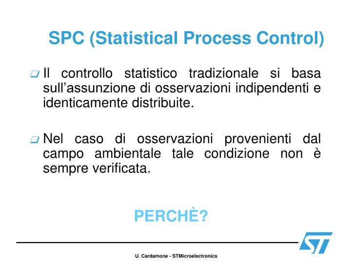 Spc statistical process control