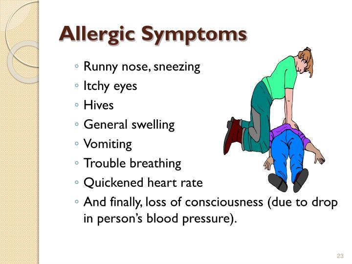 Allergic Symptoms