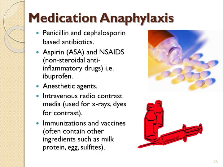 Medication Anaphylaxis
