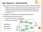 key features social portal