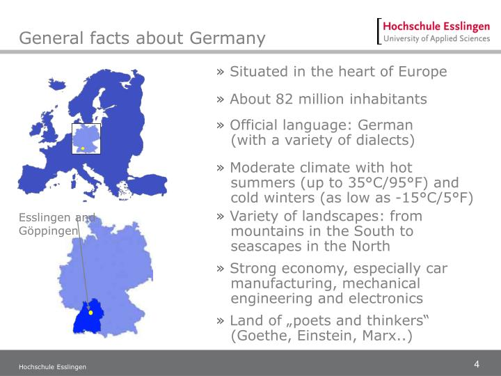 General facts about Germany
