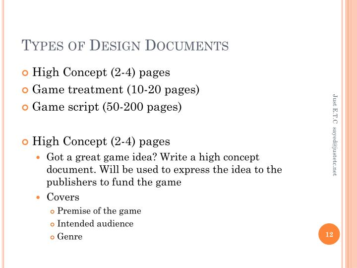 PPT Fundamentals Of Game Design What Is Game Design PowerPoint - High concept document game design
