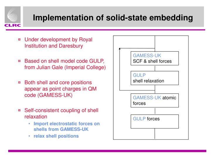 Implementation of solid-state embedding