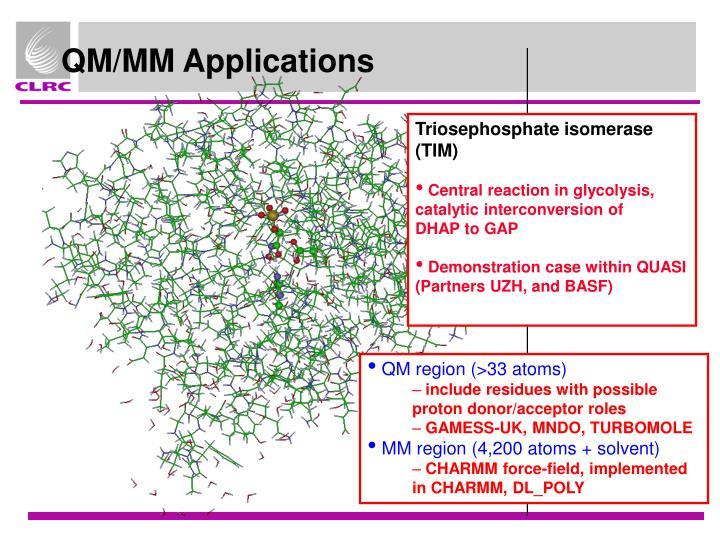 QM/MM Applications