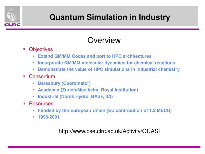 Quantum simulation in industry