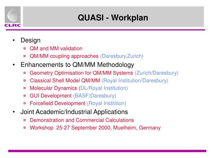 QUASI - Workplan