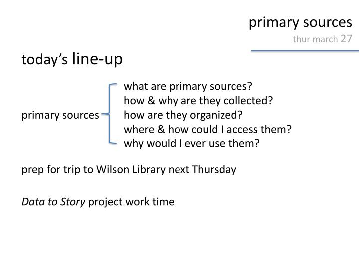 primary sources thur march 27 n.