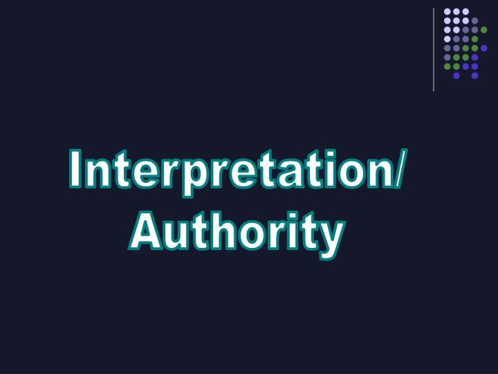 Interpretation/