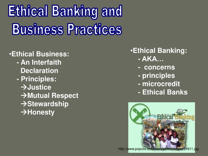 Ethical Banking and