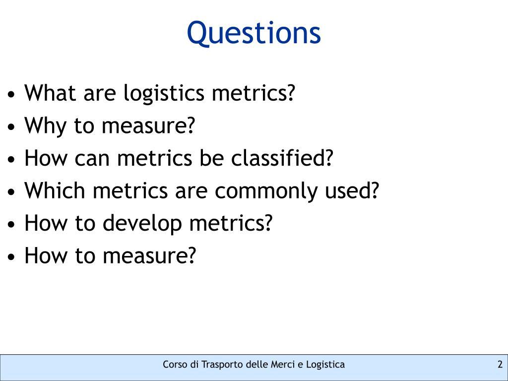 PPT - Logistics Performance Metrics PowerPoint Presentation - ID:5591743