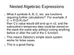 nested algebraic expressions3