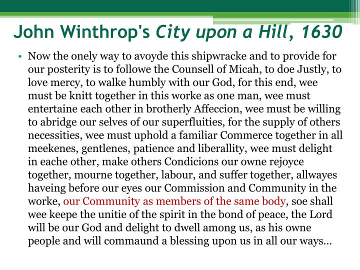 John Winthrop's