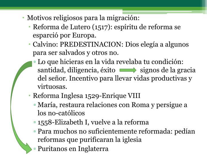 Motivos religiosos para la migración: