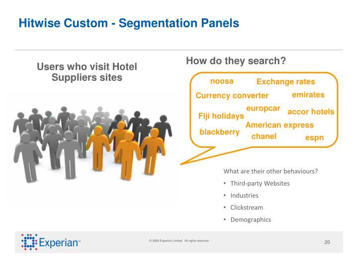 Hitwise Custom - Segmentation Panels