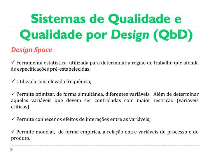 Sistemas de Qualidade e Qualidade por