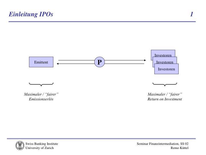 Einleitung IPOs          1