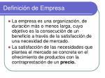 definici n de empresa1