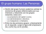 el grupo humano las personas