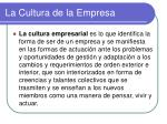 la cultura de la empresa