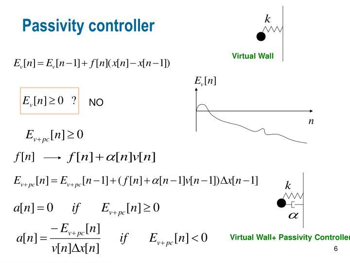Passivity controller