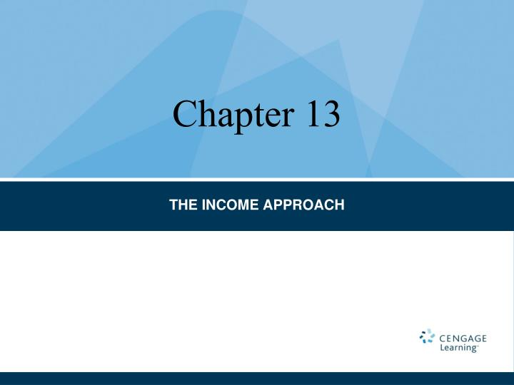 the income approach n.