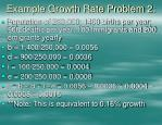 example growth rate problem 2