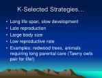 k selected strategies