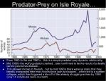 predator prey on isle royale
