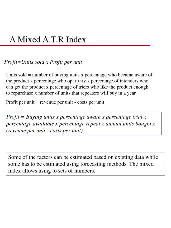 A Mixed A.T.R Index