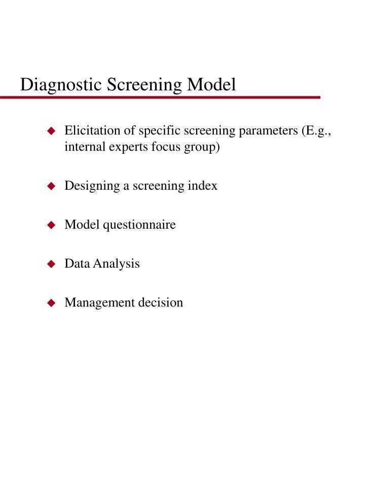 Diagnostic Screening Model