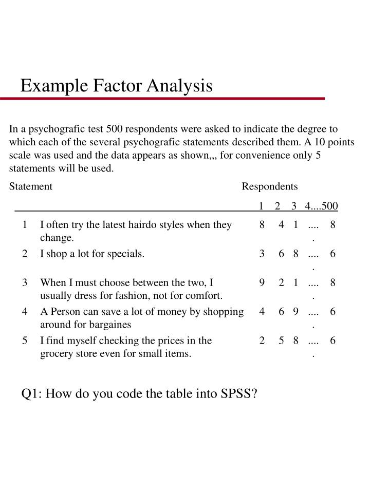Example Factor Analysis