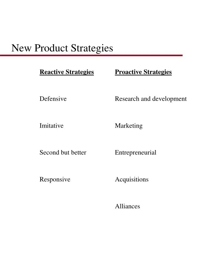 New Product Strategies