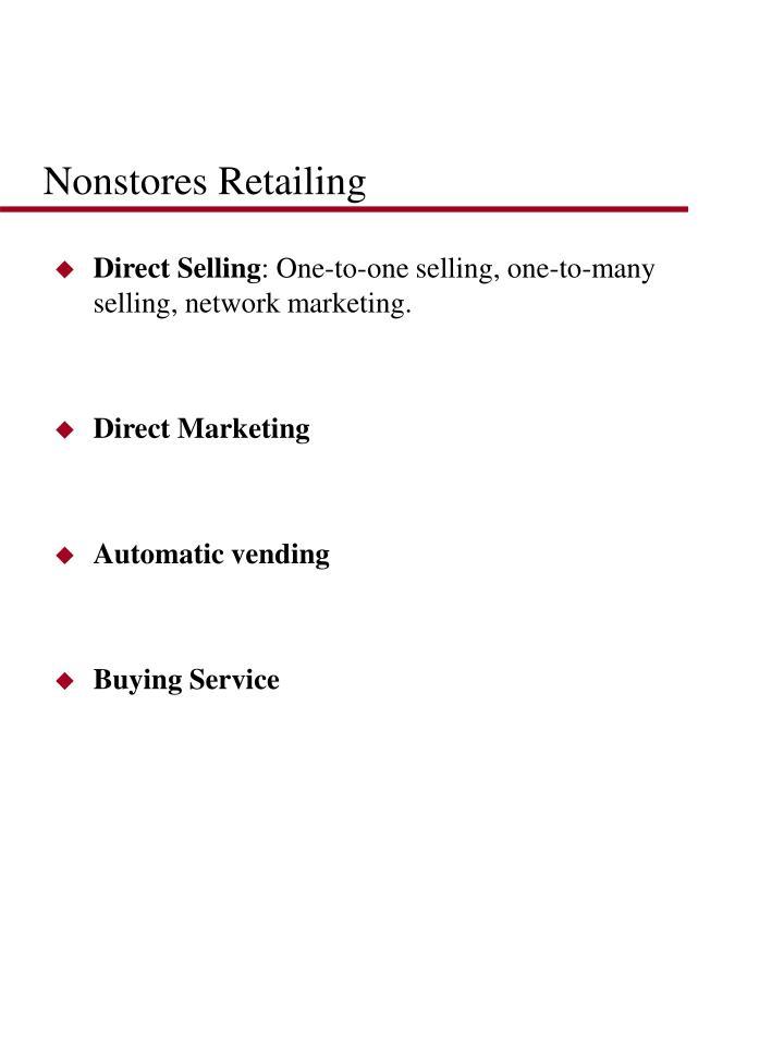 Nonstores Retailing