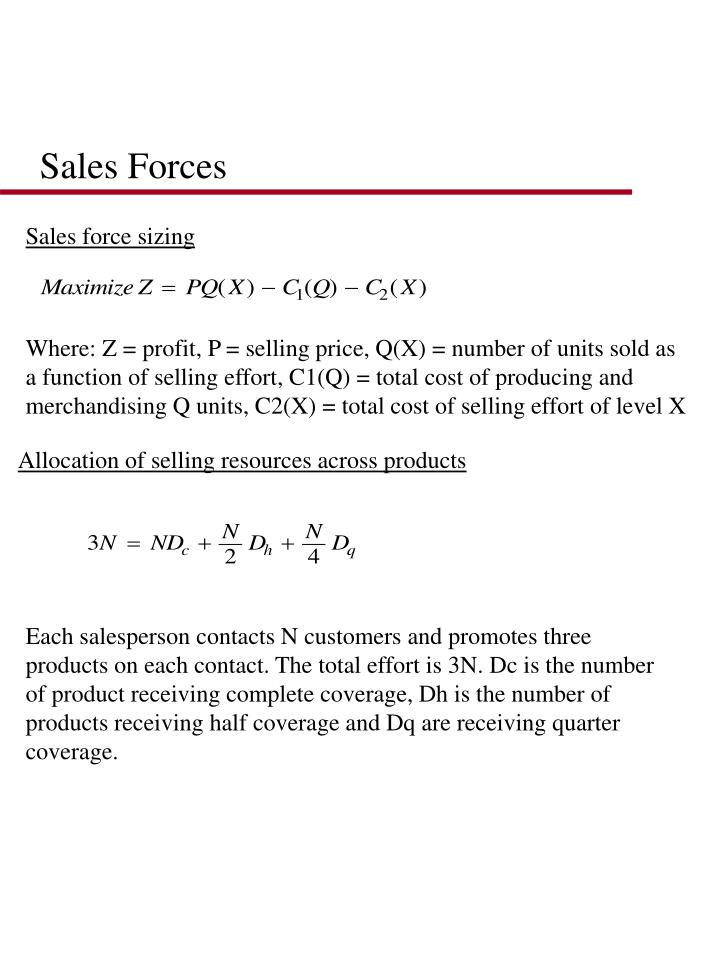 Sales Forces