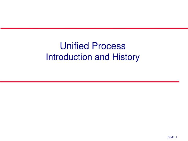 unified process introduction and history n.