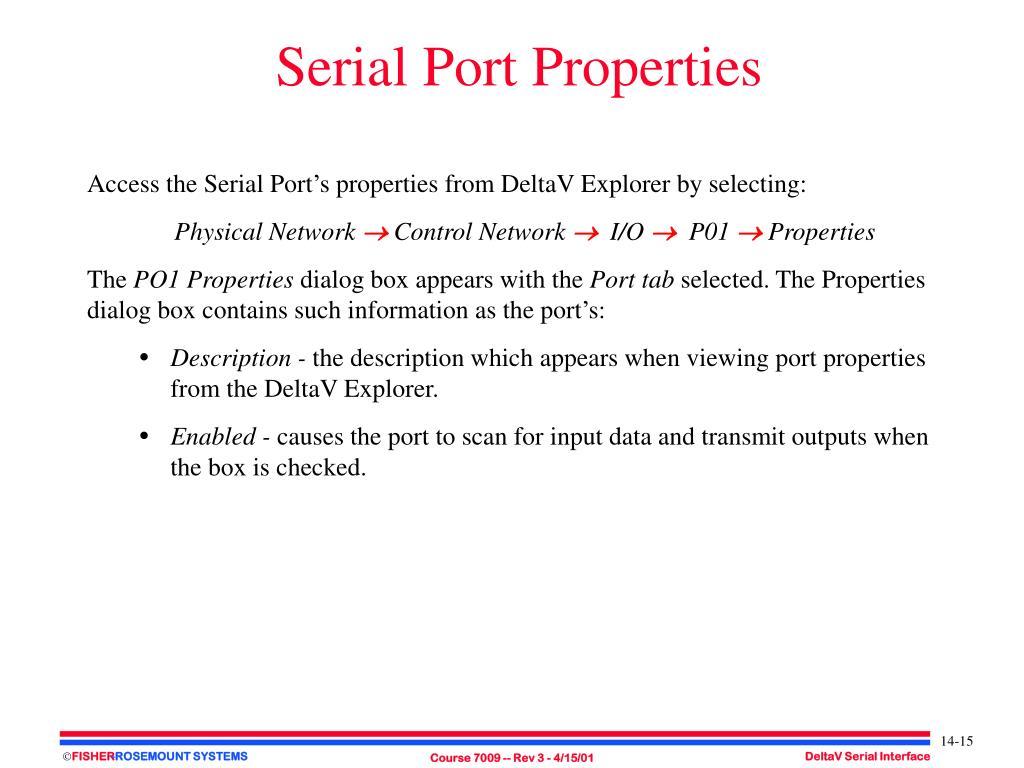 PPT - DeltaV Serial Interface PowerPoint Presentation - ID
